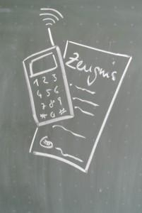Telefon und Zeugnis